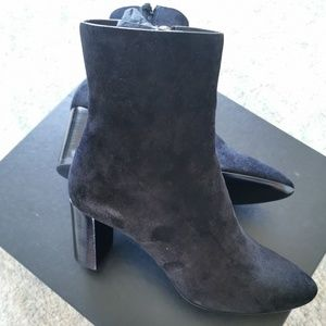 Saint Laurent LouLou 70 Ankle Boots in Black Suede
